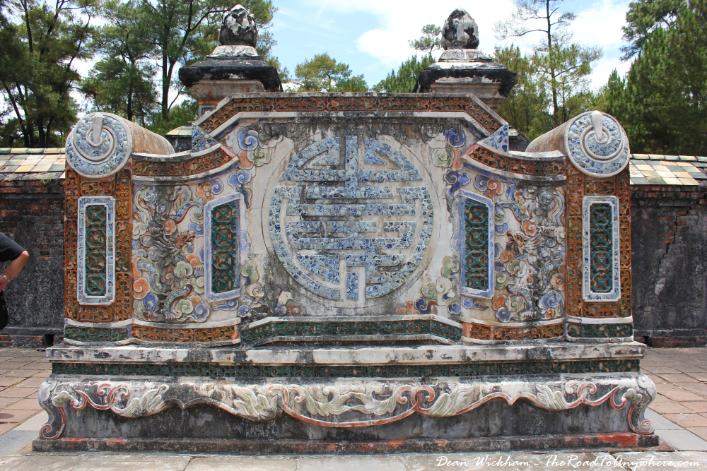 Wall at Tu Doc Tomb in Hue, Vietnam