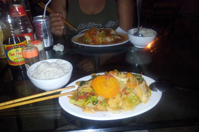 Tasty food in Cat Ba Town, Vietnam