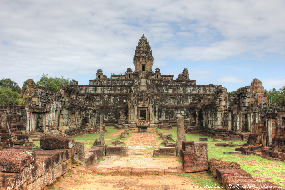 The temple of Bakong in Angkor, Cambodia