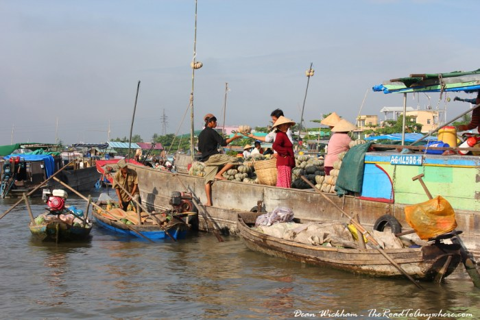 Cai Rang Floating Market in the Mekong Delta, Vietnam