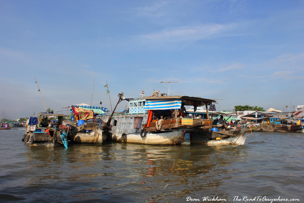 Boats at Cai Rang Floating Market in the Mekong Delta, Vietnam