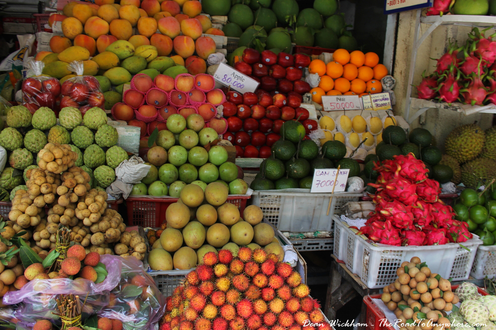 Fruit stall at Ben Thanh Market in Ho Chi Minh City (Saigon), Vietnam