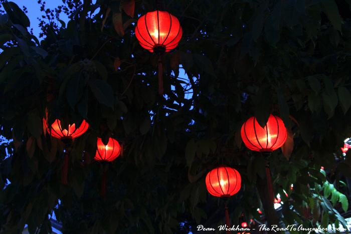 Lanterns in a tree in Hoi An, Vietnam