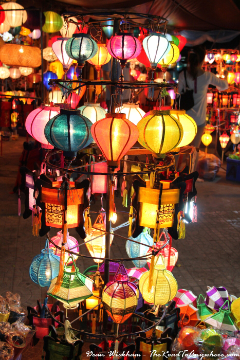 Lanterns for sale at the night market in Hoi An, Vietnam
