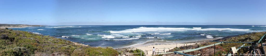 Panoramic view of Surfer's Paradise in Margaret River, Western Australia