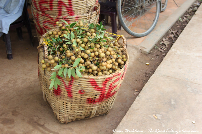 A basket of fruit in the Mekong Delta in Vietnam