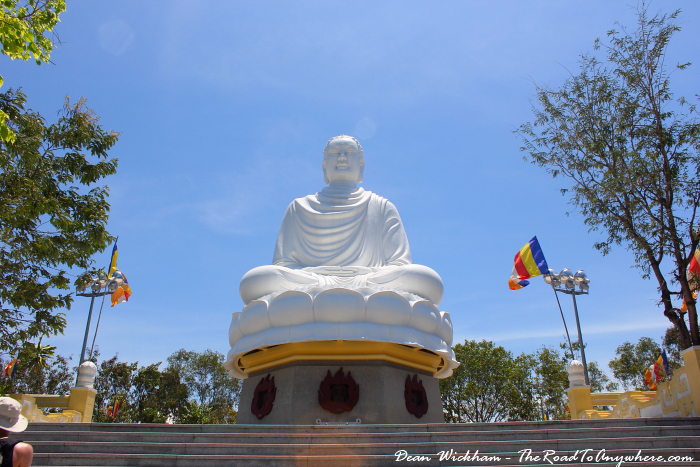 Big White Buddha at Long Son Pagoda in Nha Trang, Vietnam