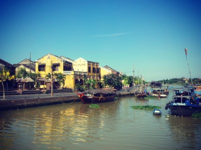 View of the river in Hoi An