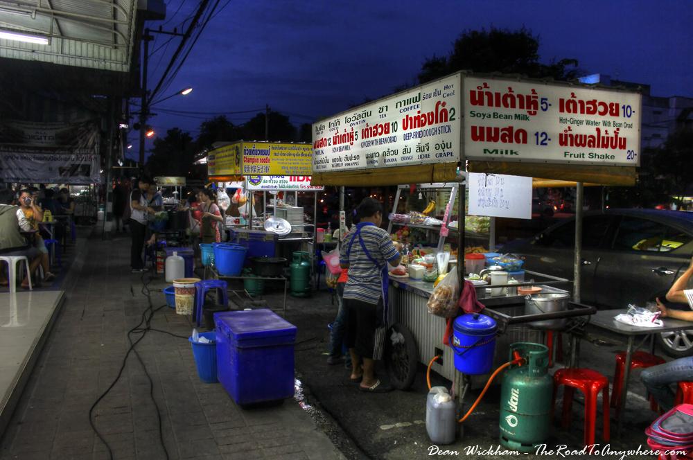 Fruit shake cart in Chiang Mai, Thailand