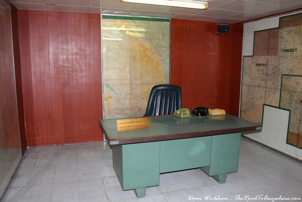 War room at the Reunification Palace in Saigon, Vietnam