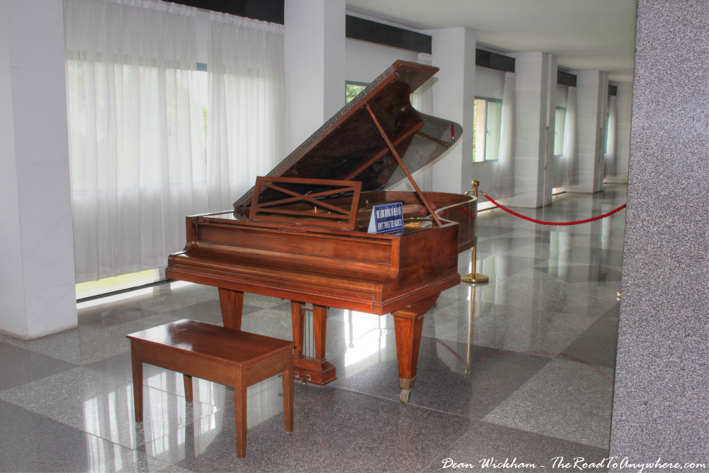 A grand piano at the Reunification Palace in Saigon, Vietnam