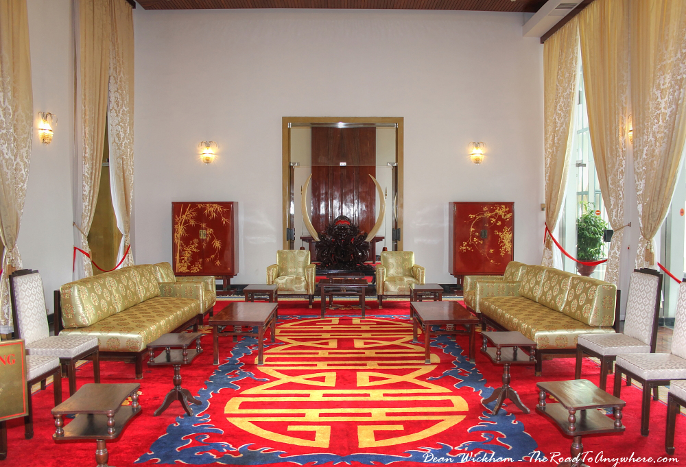 National Reception Room at the Reunification Palace in Saigon, Vietnam