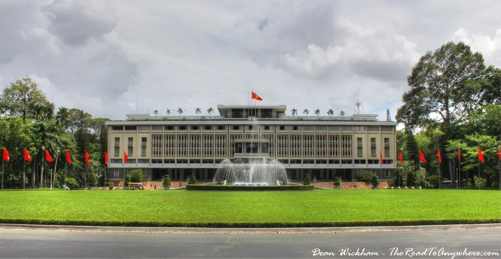 The Reunification Palace in Saigon, Vietnam