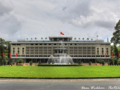 The Reunification Palace in Saigon, Vietnam