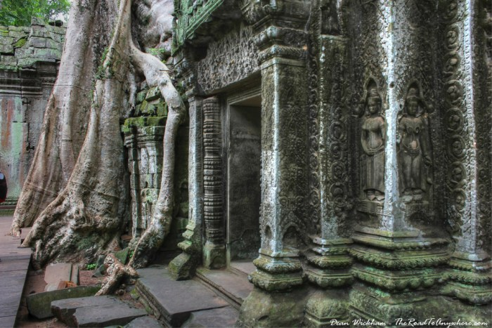 Ancient doorway at Ta Phrom in Angkor, Cambodia