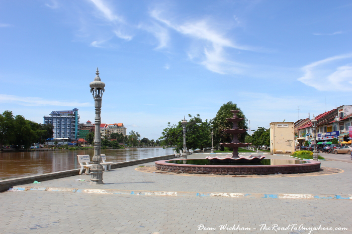 Riverfront in Battambang, Cambodia