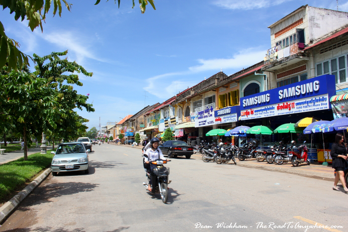 Main street in Battambang, Cambodia