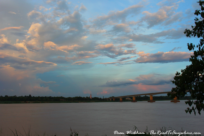 Mekong River at Sunset in Kampong Cham, Cambodia