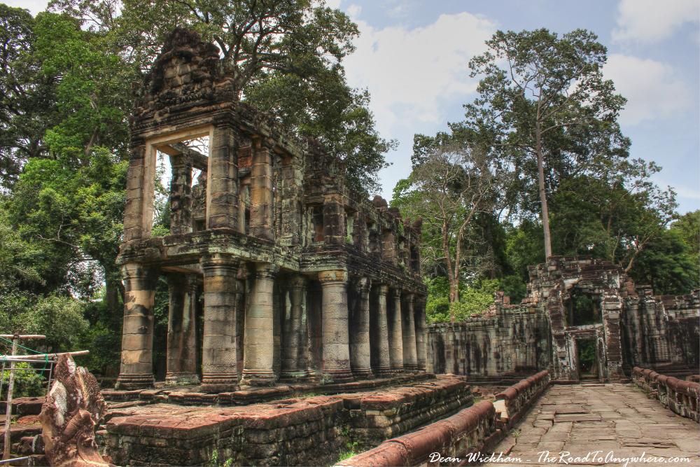 Two story building at Preah Khan in Angkor, Cambodia