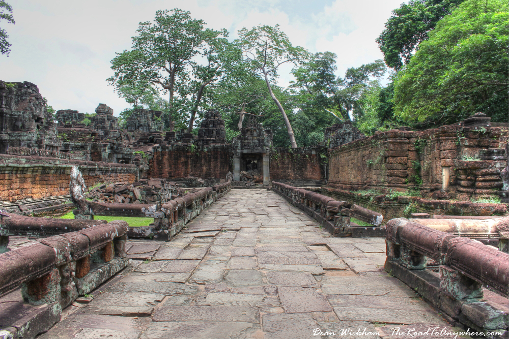 Ancient walkway at Preah Khan in Angkor, Cambodia