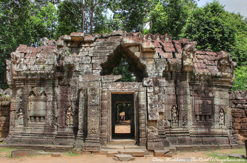 Temple Gate at Ta Som in Angkor, Cambodia
