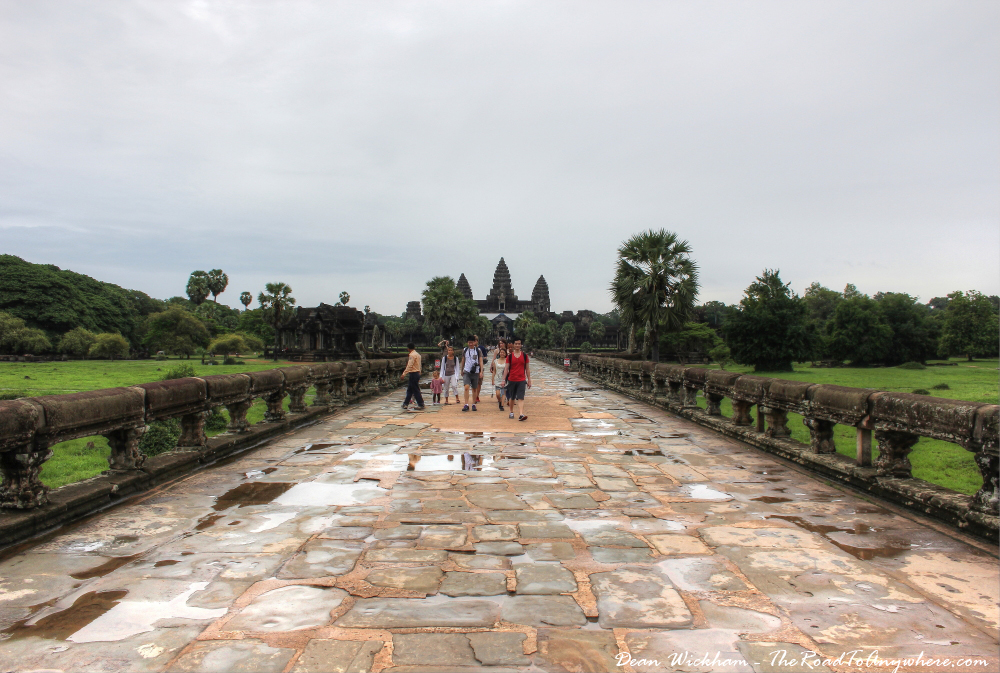 Paved road to Angkor Wat