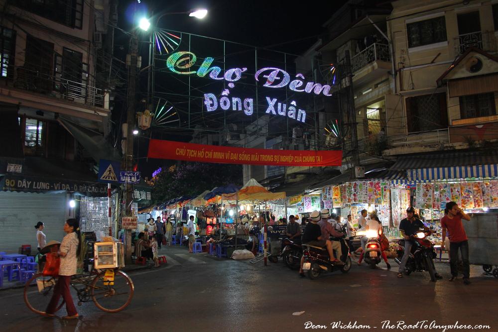 Dong Xuan Night Market in Hanoi, Vietnam