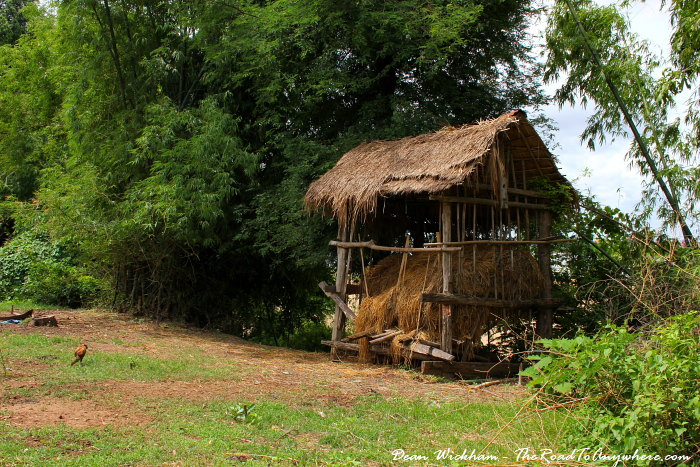 Hay shed on Koh Trong, Cambodia