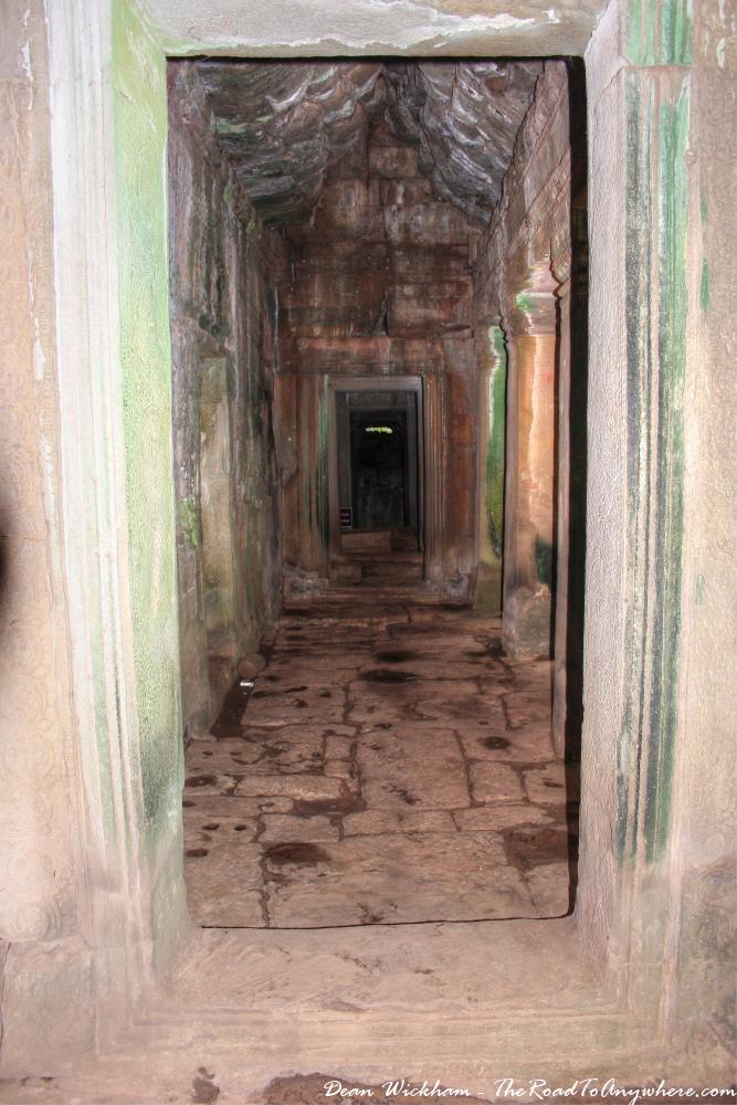 Ancient hallway at Bayon in Angkor Thom, Cambodia
