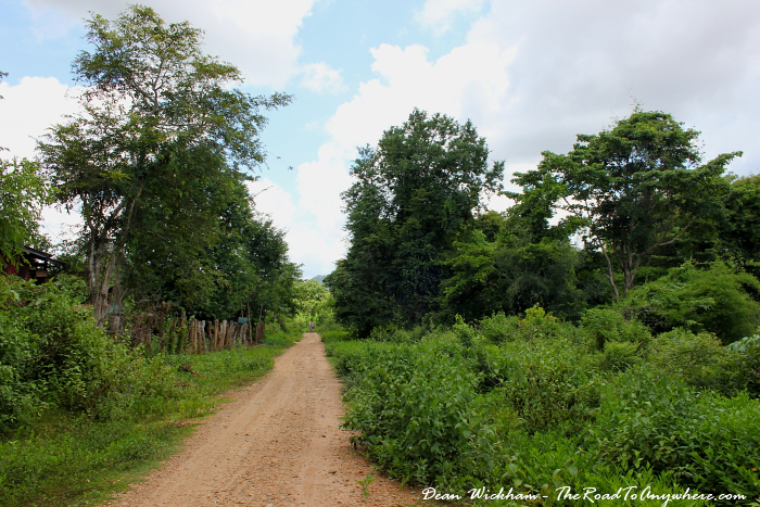 Dirt path in the countryside on Don Khone, Laos