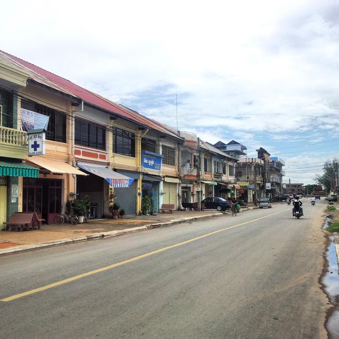 Street scene in Kampot, Cambodia