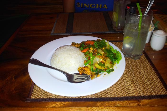 Chicken Char K'day in Kampong Cham, Cambodia