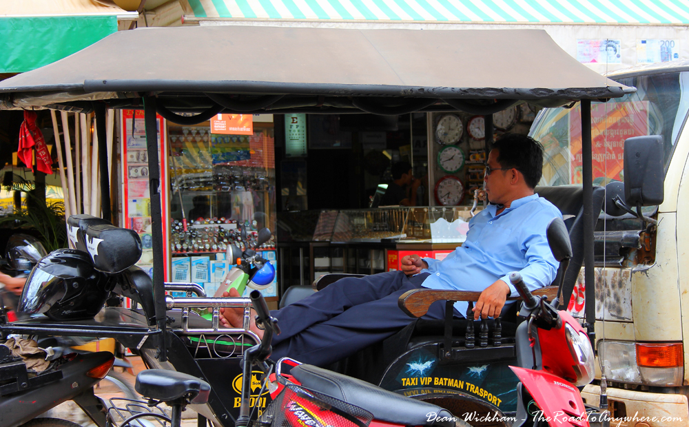 A tuk tuk driver waiting in Siem Reap, Cambodia