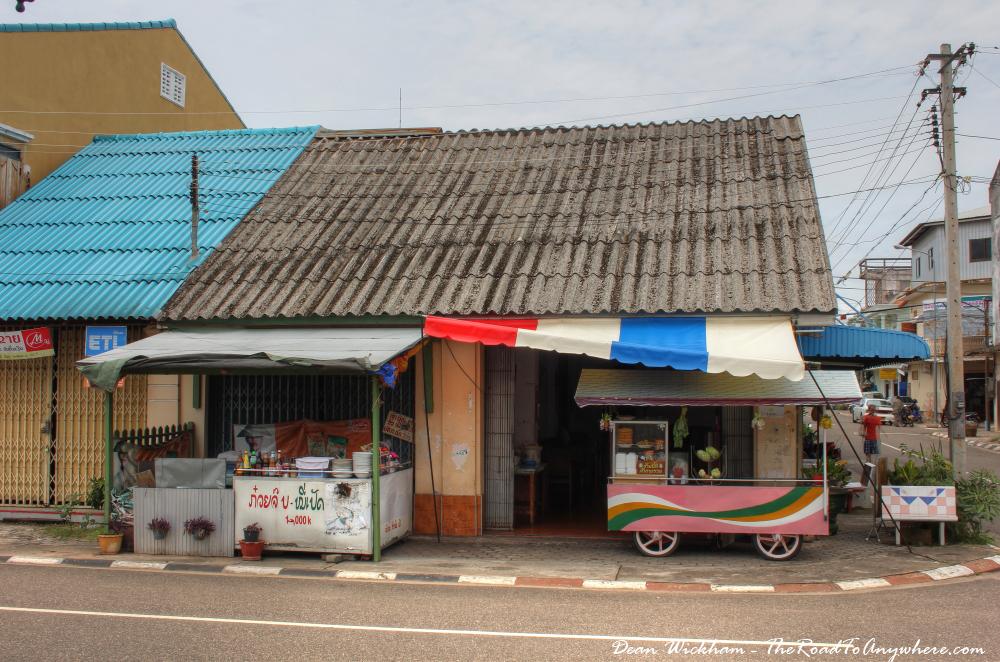Little food stalls in Savannakhet, Laos