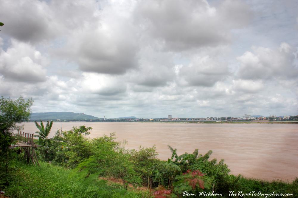 View of the Mekong River in Savannakhet, Laos