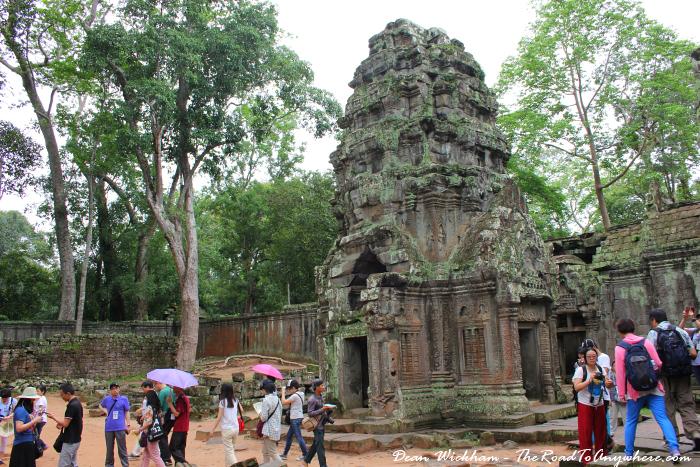Tower at Ta Phrom in Angkor, Cambodia