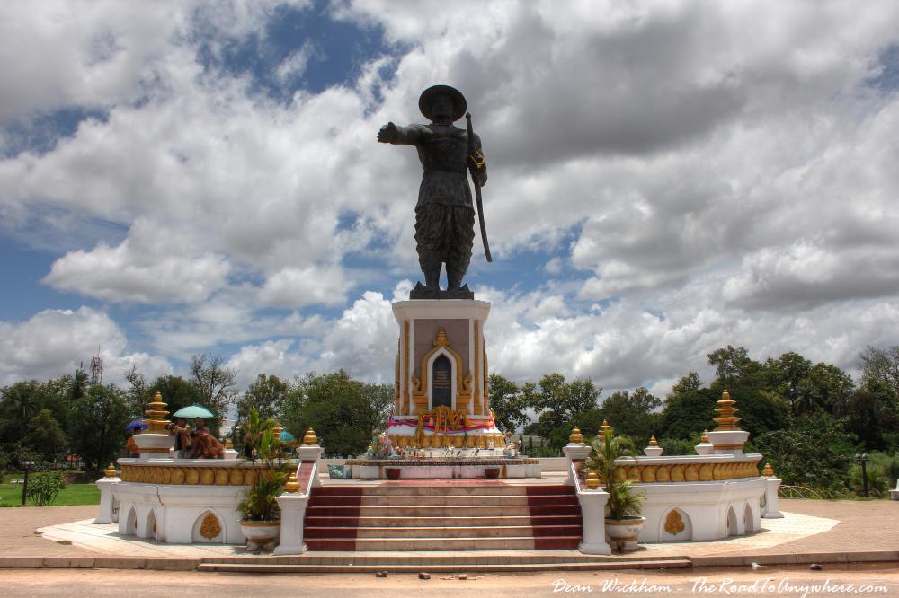 Statue and monument in Vientiane, Laos