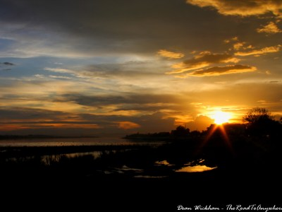 Beautiful sunset in Vientiane, Laos