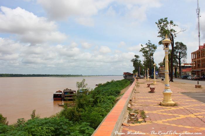 Riverfront in Kratie, Cambodia