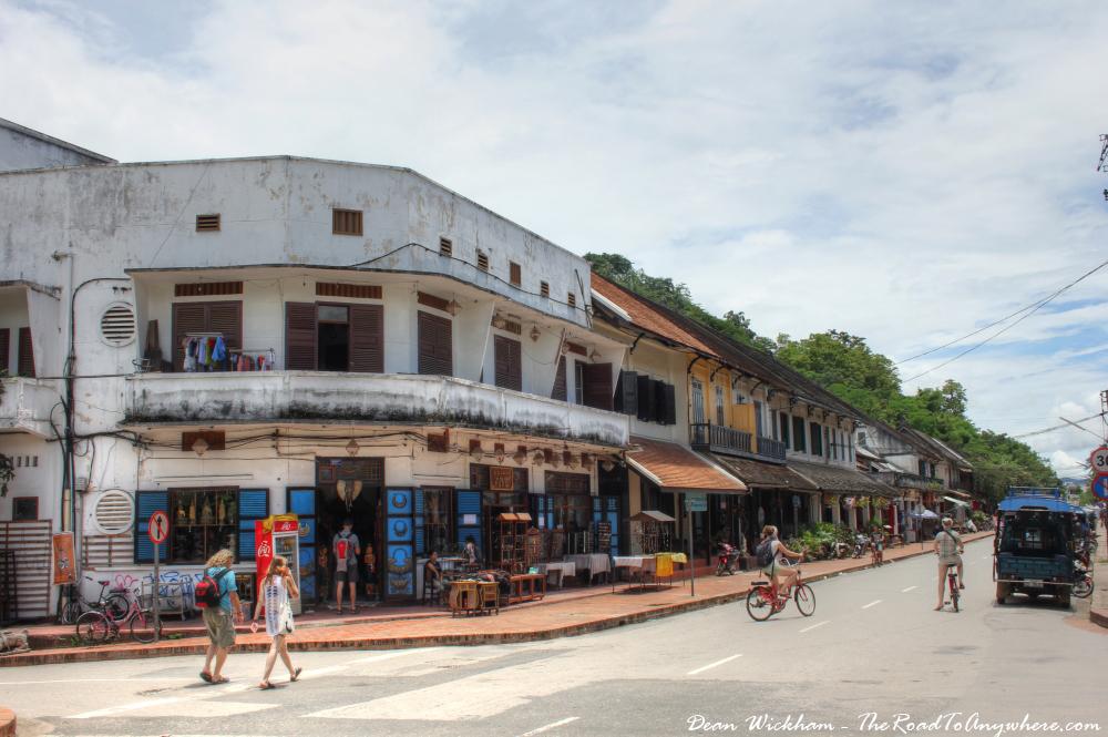 Tourists wander the main street in Luang Prabang, Laos