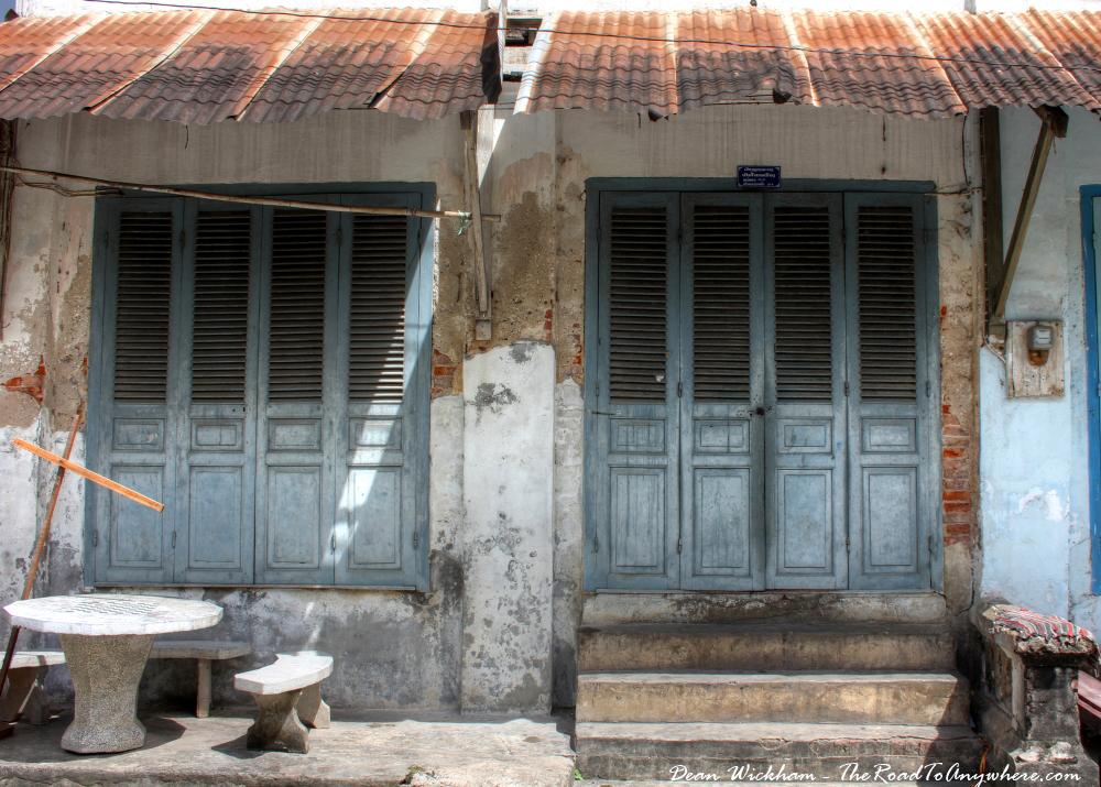 Old shopfronts in Luang Prabang, Laos