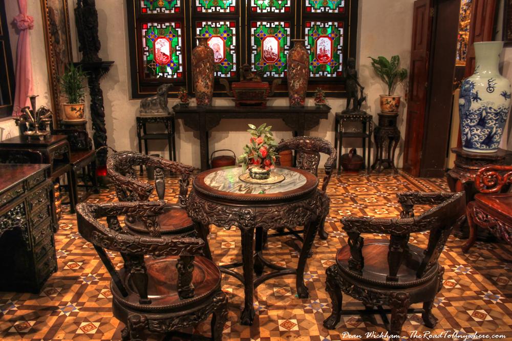 Antique furniture in Pinang Peranakan Mansion, Malaysia