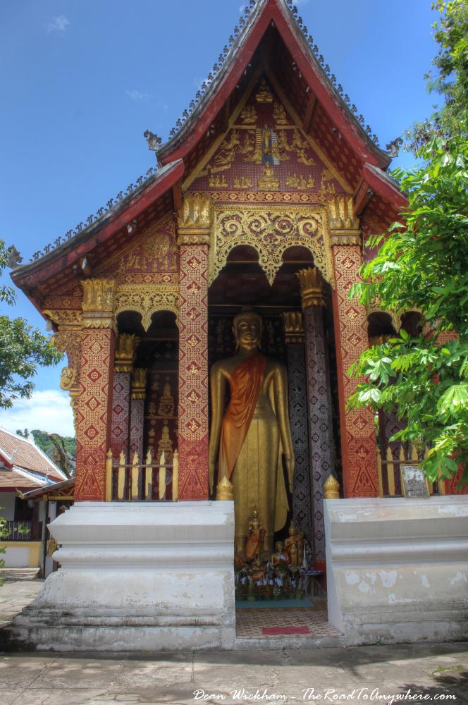 Chapel of the Standing Buddha at Wat Sensoukharam in Luang Prabang, Laos