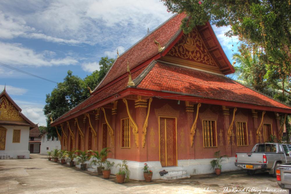 Monastery building at Wat Sensoukharam in Luang Prabang, Laos