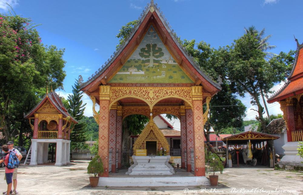 Shrine at Wat Sensoukharam in Luang Prabang, Laos