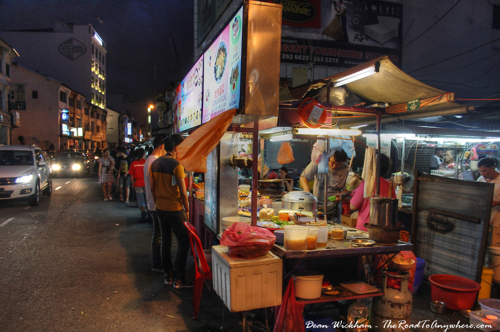 Hawker Stalls in Chinatown, Penang, Malaysia