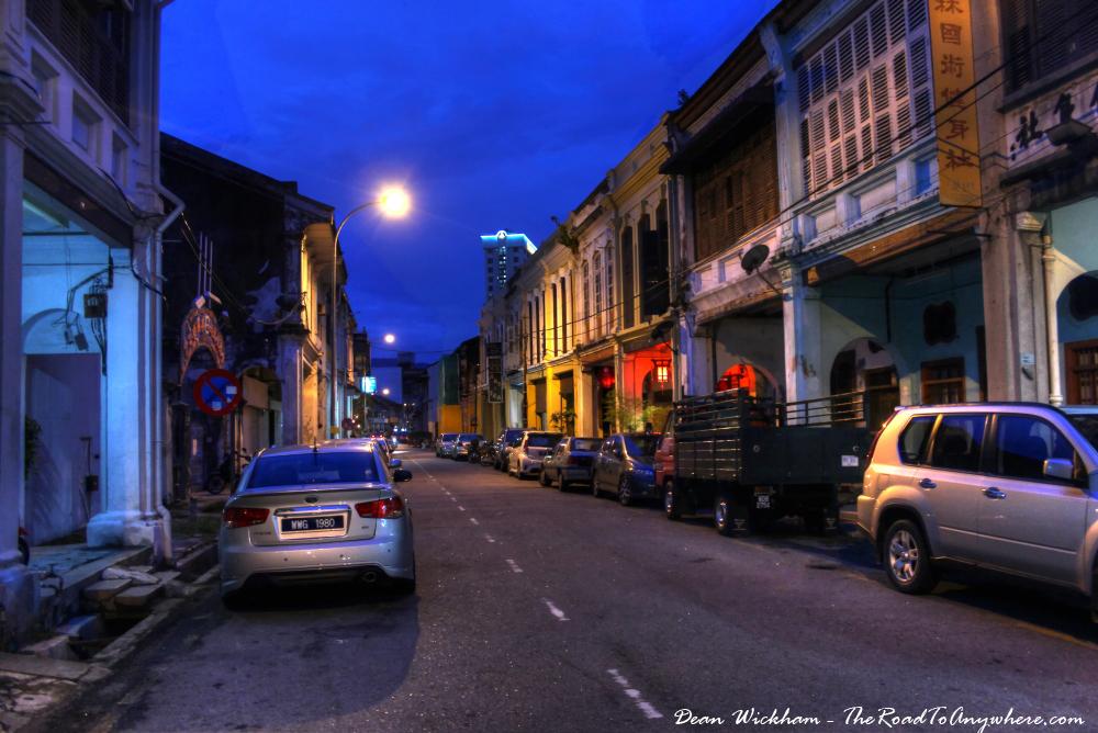 Jalan Muntri in Chinatown, Penang, Malaysia