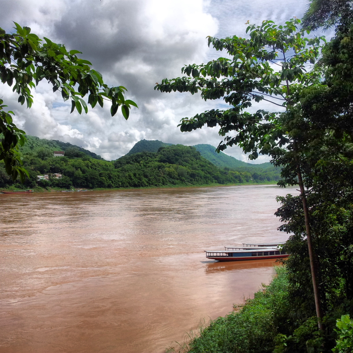 The Mekong River in Luang Prabang, Laos