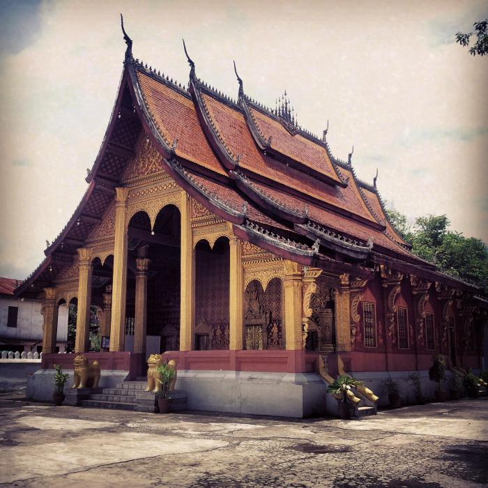 Wat Sensoukharam in Luang Prabang, Laos