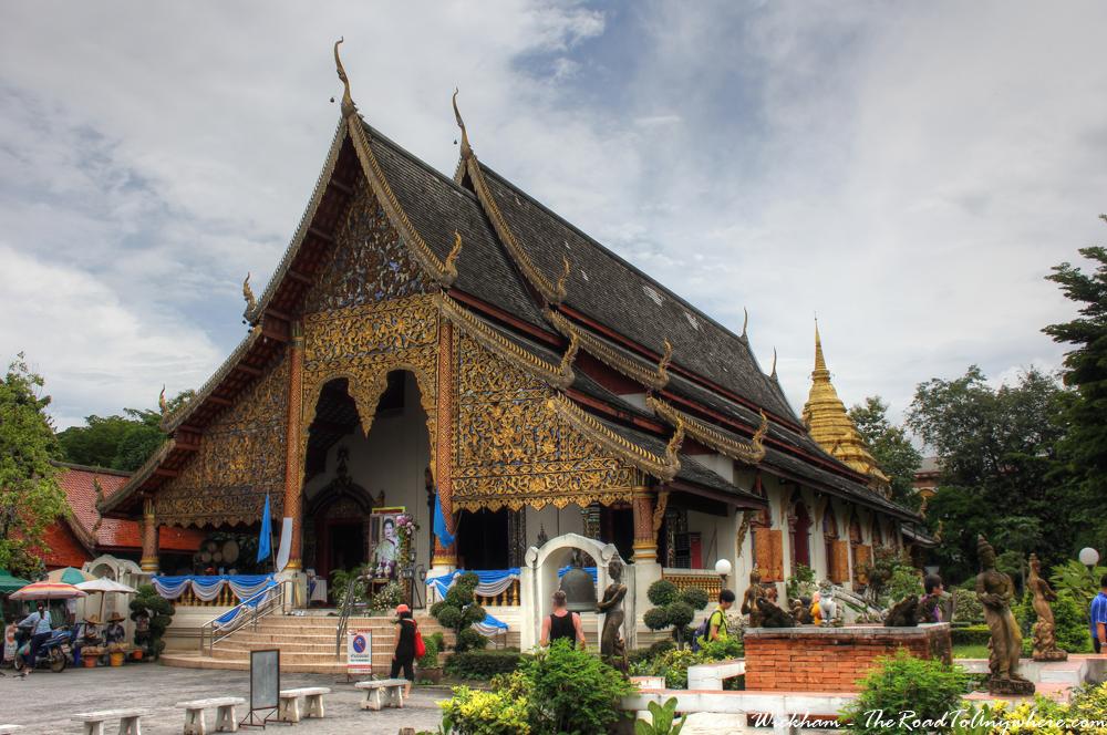 Viharn at Wat Chiang Mun in Chiang Mai, Thailand